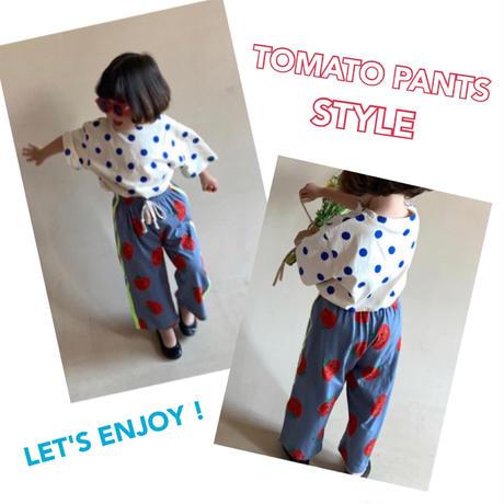 【約110㎝】TOMATO LINE PANTS