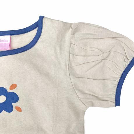 【80-100㎝】flower  puff t-shirts