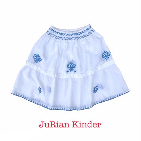 JuRian Kinder *white skirt【jk193】