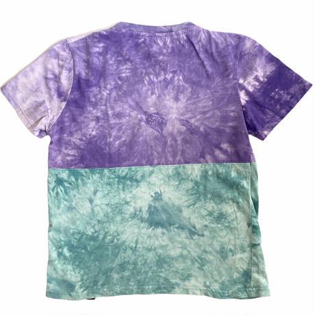 【vintage約130cm】ツートーンタイダイt-shirts