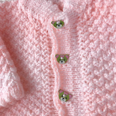 JurianKinder *bear button pink c/d【jk140】