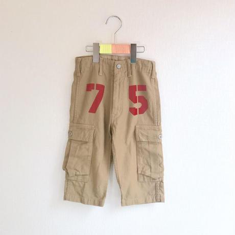 【used120cm】キャメルショート丈 カーゴパンツ