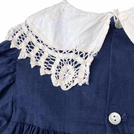 JuRian Kinder *navy linen onepiece【jk194】