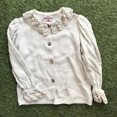 *JurianKinder*lace collar linen blouse