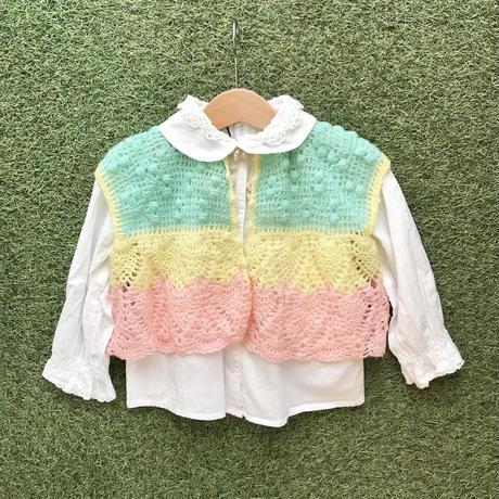 *JurianKinder*pastel color knit vest