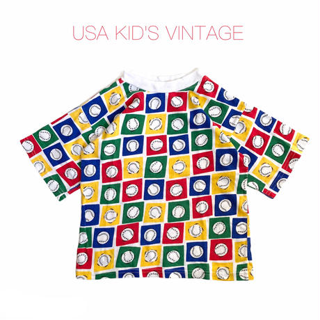 【vintage約110-120cm】baseball t-shirts