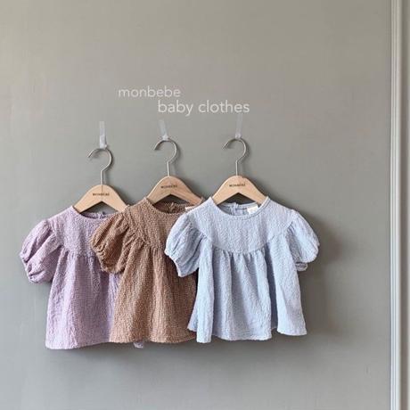 <即納>momo blouse(ブラウンL)