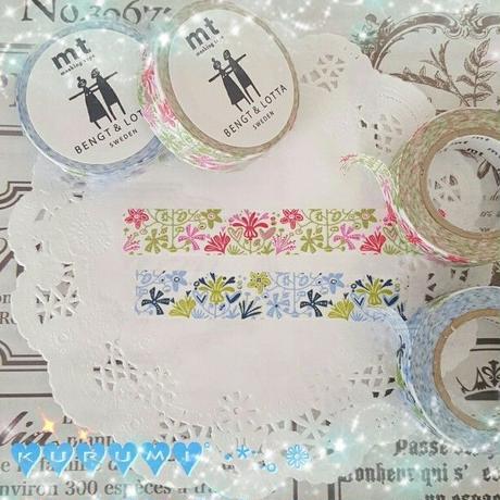 mt❁alma・pink & blueマスキングテープ (2rollセット)