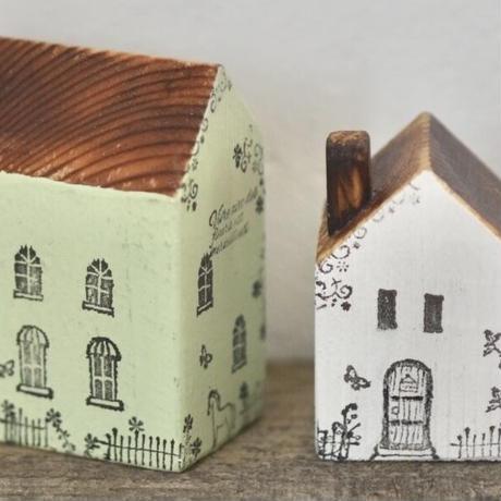 ハウス2個セット(緑M、白S煙突)  のセット