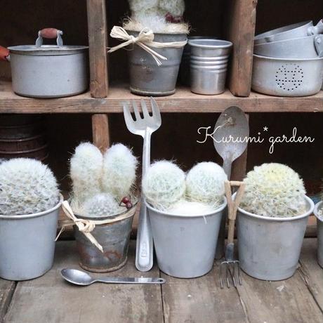 ミニ ブリキ鉢