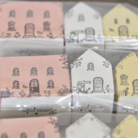 ハウス3個セット(ピンクM、白S、黄S)