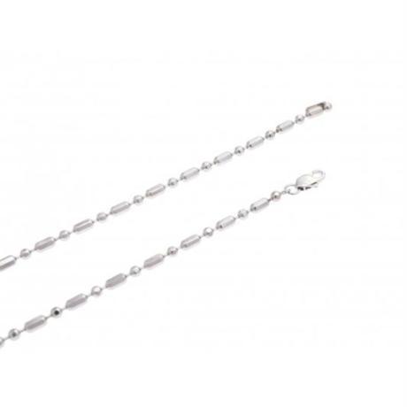 Random cut ball chain necklace