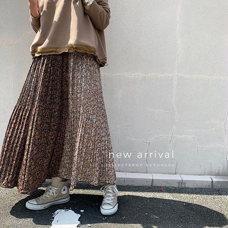 【御予約】花柄プリントプリーツスカート