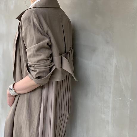 【御予約】バックプリーツリネントレンチ
