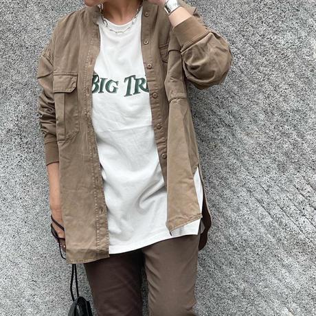 袖リブバンドカラーシャツ