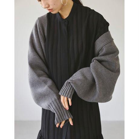 【御予約】Doubleface Sleeve Knit