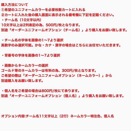 KELME×KYP チーム名・背番号入りオリジナルオーダーユニフォーム
