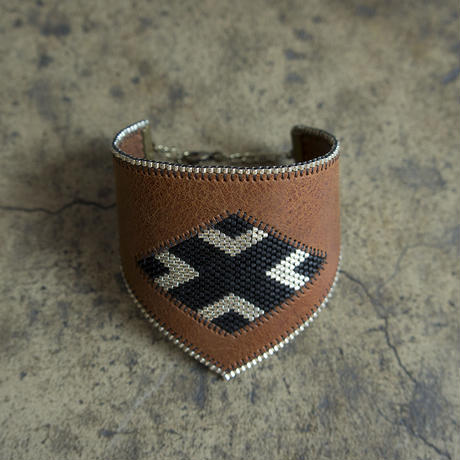 Leather & Beads bracelet brown vol.1