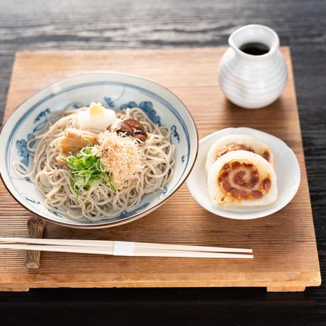 京北名物 納豆もちそば(生蕎麦+納豆もち+薬味+お出汁)