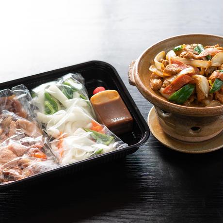 美山地鶏のけいほく焼セット(美山地鶏肉、野菜、みそだれ)