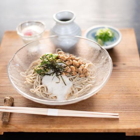 京北 山国納豆ねばとろそば(京北納豆+生蕎麦+とろろ+そば出汁+温泉玉子+薬味)