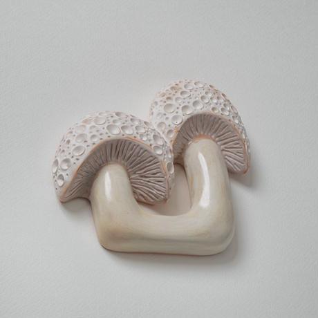 wall art white mushroom 08133-a