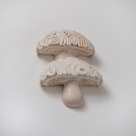 wall art white mushroom 08132