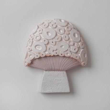 wall art white mushroom 08151