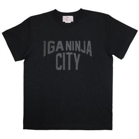 伊賀市(忍者市) ご当地Tシャツ (ブラック×ブラック)