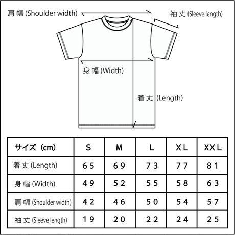 女忍者「くのいち」の浮世絵×家紋Tシャツ (ブラック)
