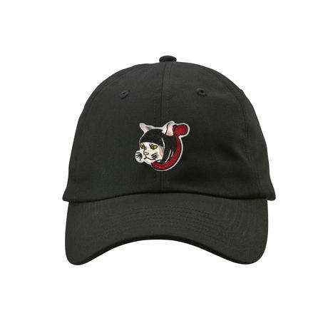 猫忍者 ワンポイント キャップ(ブラック)