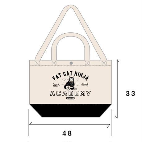 猫忍者キャンバスバッグ(ナチュラル×ネイビー)