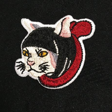 猫忍者 ワンポイント ポロシャツ(ブラック)