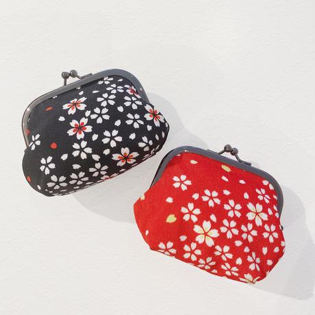 【特別贈禮】櫻花京風開口包(紅/黑) sakura pouch