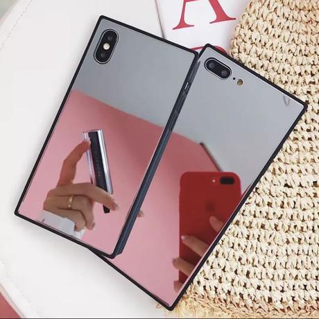 ★iPhone6〜iPhoneX★Galass 鏡面 iPhone case 化粧直しにも☆