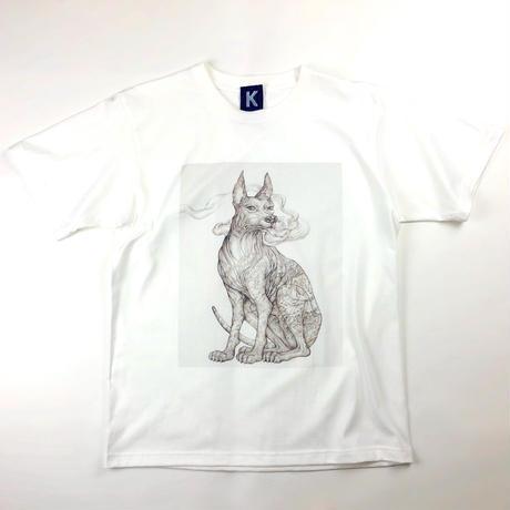 KYOTARO 天の番犬 T-SHIRT   M size  (限定数36枚)絵付きシリアルナンバーサイン入りカード&ポストカード付き