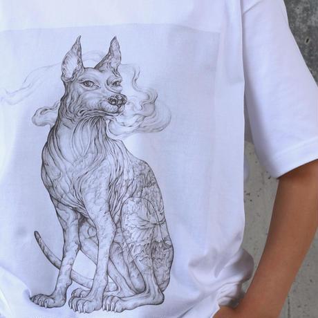 KYOTARO 天の番犬 T-SHIRT XL size  (限定数9枚)絵付きシリアルナンバーサイン入りカード&ポストカード付き