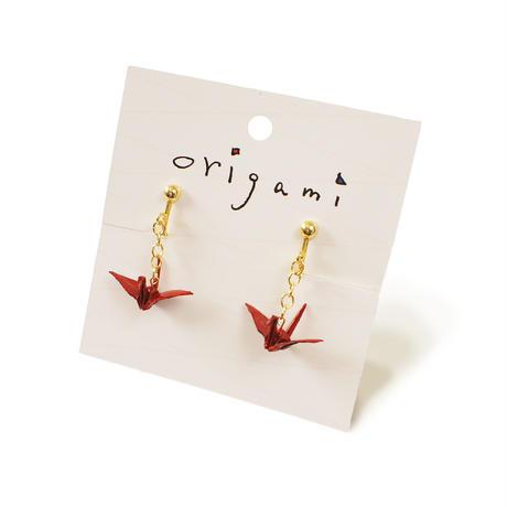 origami  ピアス・イヤリング (鶴4色 金魚1色)