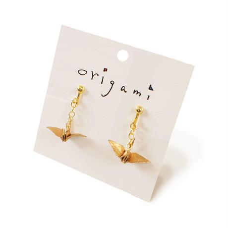 origami  ピアス・イヤリング (鶴2色 金魚2色)
