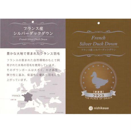 西川  羽毛掛けふとん:シングルサイズ  レッド/ブルー