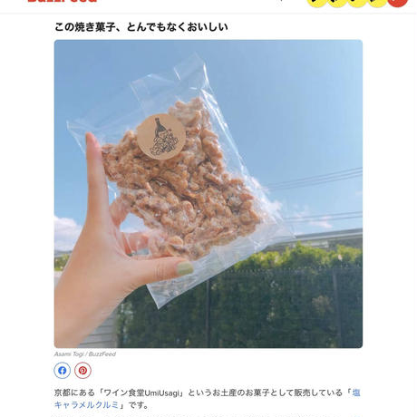 【初回お試しご注文限定】+【美味しさ保証キャンペーン】ワイン食堂Umiusagiの塩キャラメルくるみ(200g)全国送料無料