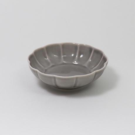 スモーキーグレー フラワー小皿