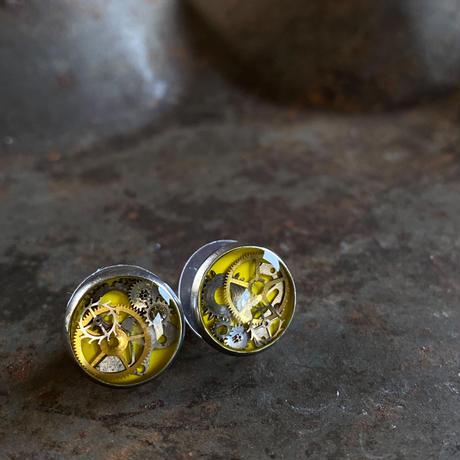CLOPOA petit pierced earrings yellow【K0568】