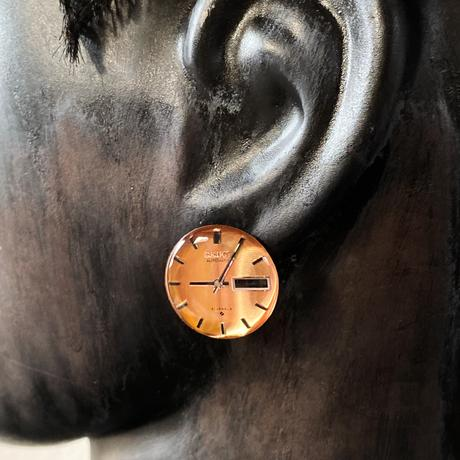 antique color dial pierced earrings【K0525】