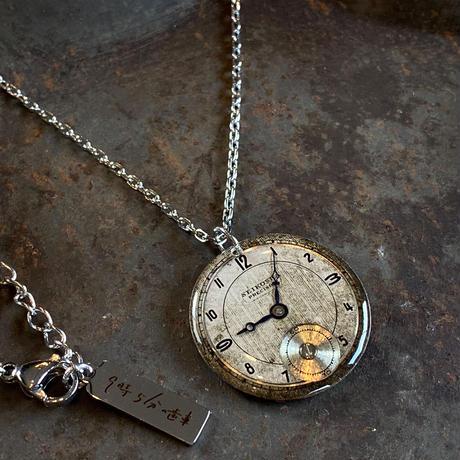 antique round dial necklace 【K0556】