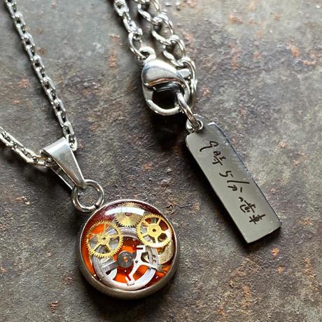 【new】CLOPOA petit necklace orange【K537】