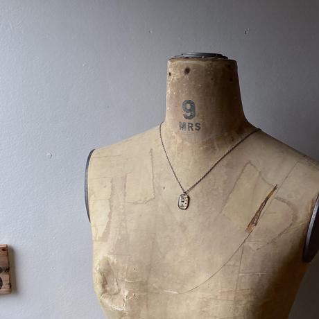 antique square dial necklace 【K0546】