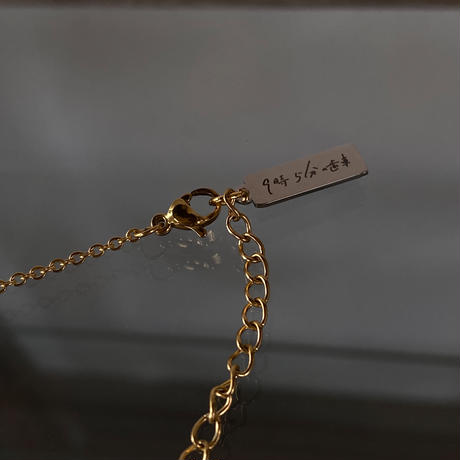 【new】9時5分の歯車 original plain chain(K18GP)【K0584】