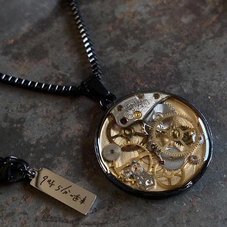 CLOPOA BLACK standard necklace gold【K0567】