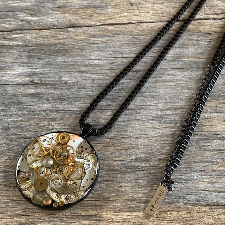 CLOPOA BLACK large necklace design